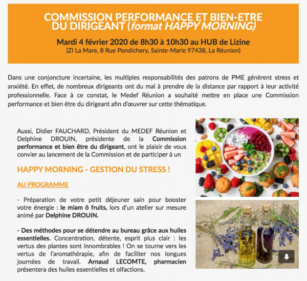 HAPPY MORNING - MEDEF Réunion